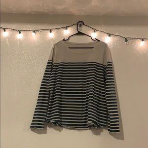 striped long sleeved t shirt